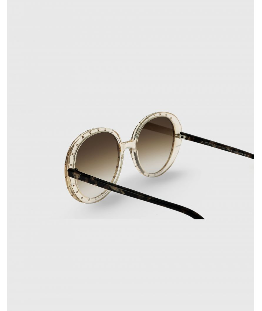 Round sunglasses in acetate
