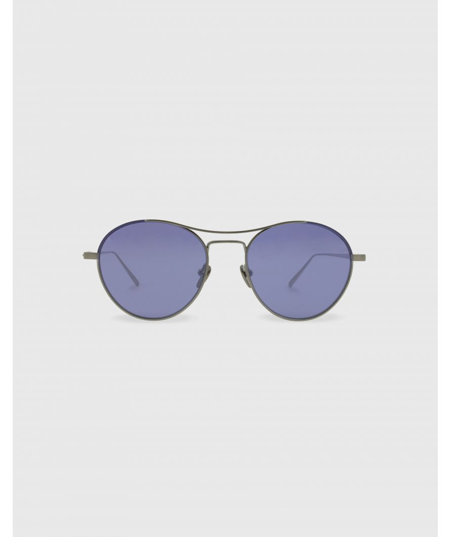 Round sunglasses in titanium
