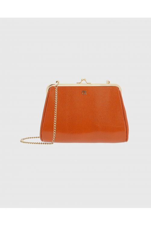 Vegan leather clutch