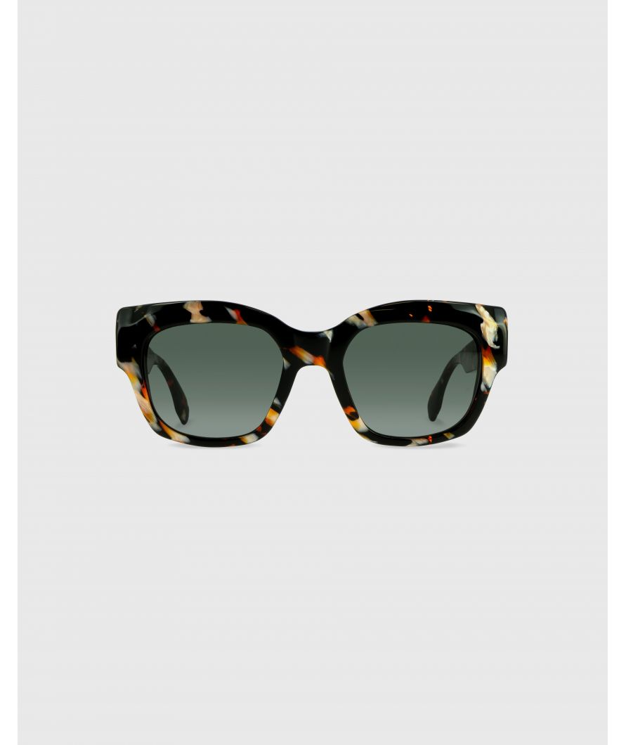 Rectangular sunglasses in acetate